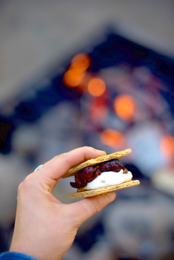 Campfire Cookie Dough Almond S'Mores Recipe