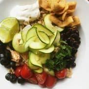 Noodleless Zucchini Chicken Bowl Recipe
