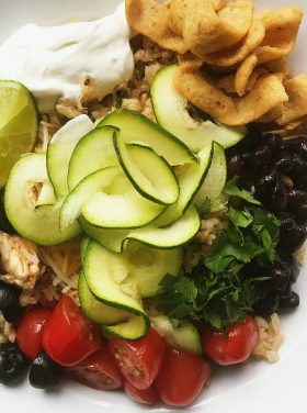 Noodleless Zucchini Chicken Bowl Recipe
