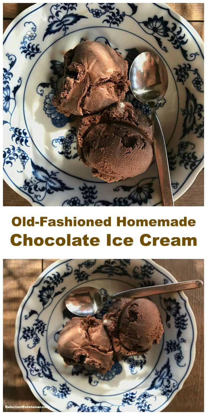 BEST Old-Fashioned Homemade Chocolate Ice Cream