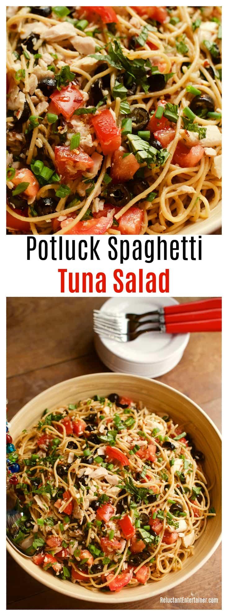 Potluck Spaghetti Tuna Salad Recipe