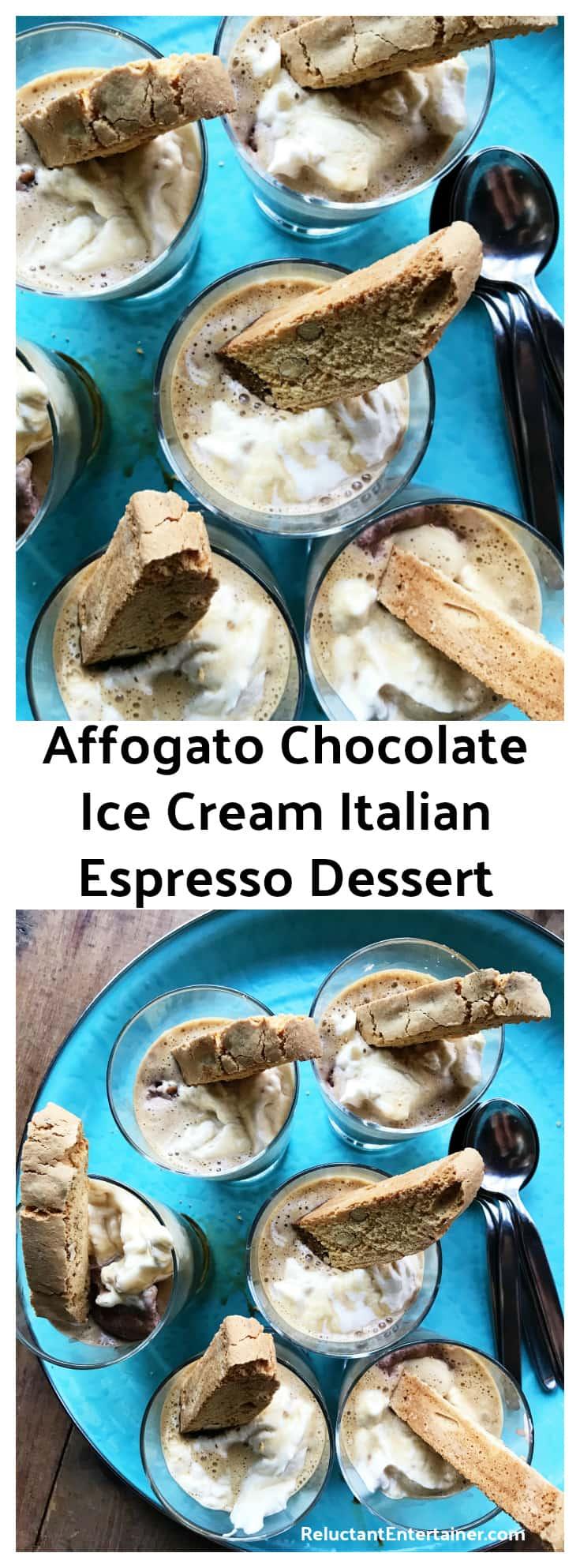 Affogato Chocolate Ice Cream Italian Espresso Dessert