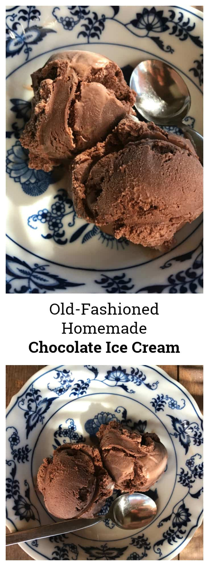 Old-Fashioned Homemade Chocolate Ice Cream