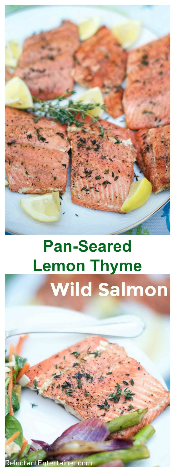 Pan Seared Lemon Thyme Wild Salmon