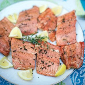 Pan Seared Lemon Thyme Wild Salmon