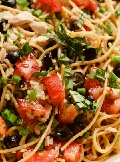 Potluck Spaghetti Tuna Salad Recipe