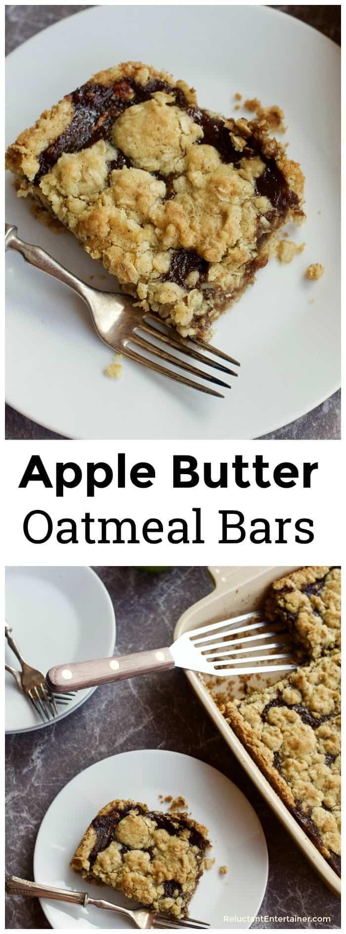 Apple Butter Oatmeal Bars Recipe
