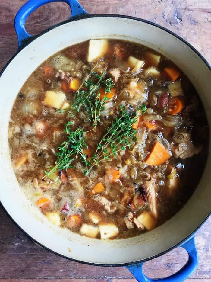 Chicken Bacon Sweet Potato Soup