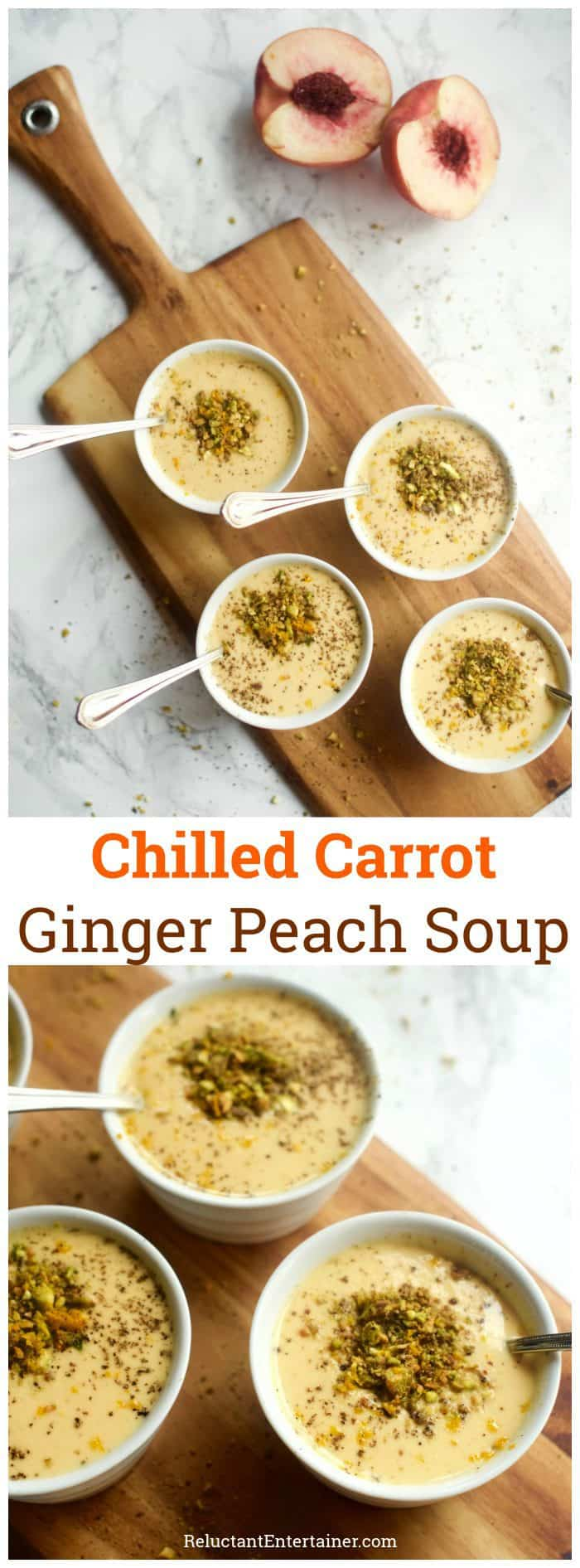 Chilled Carrot Ginger Peach Soup
