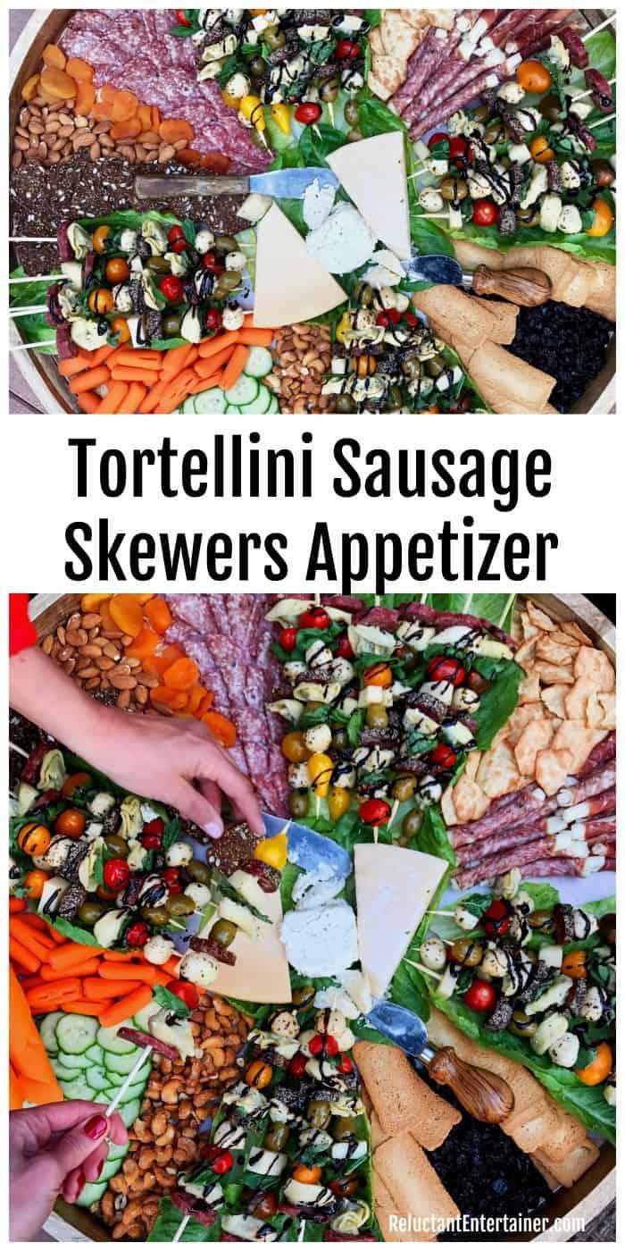 BEST Tortellini Sausage Skewers Appetizer recipe