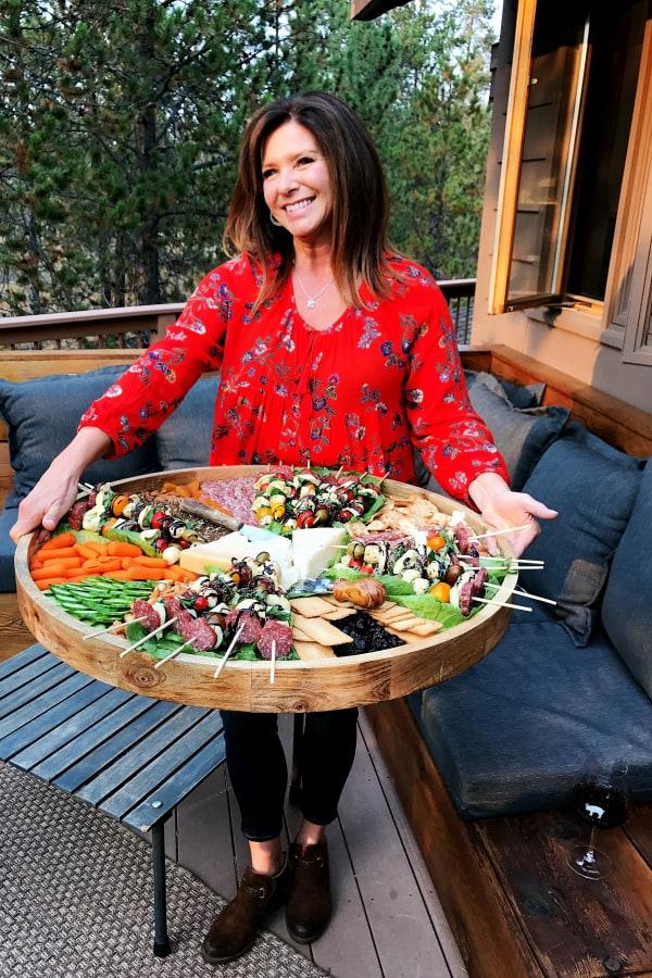 Tortellini Sausage Skewers Appetizer Charcuterie Board