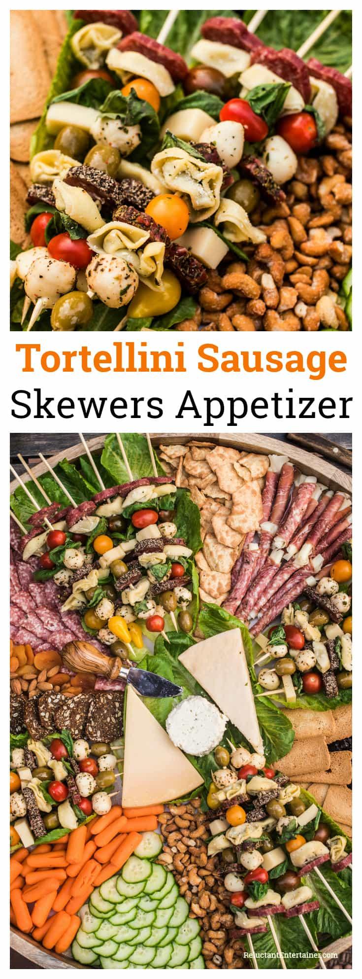 Tortellini Sausage Skewers Appetizer