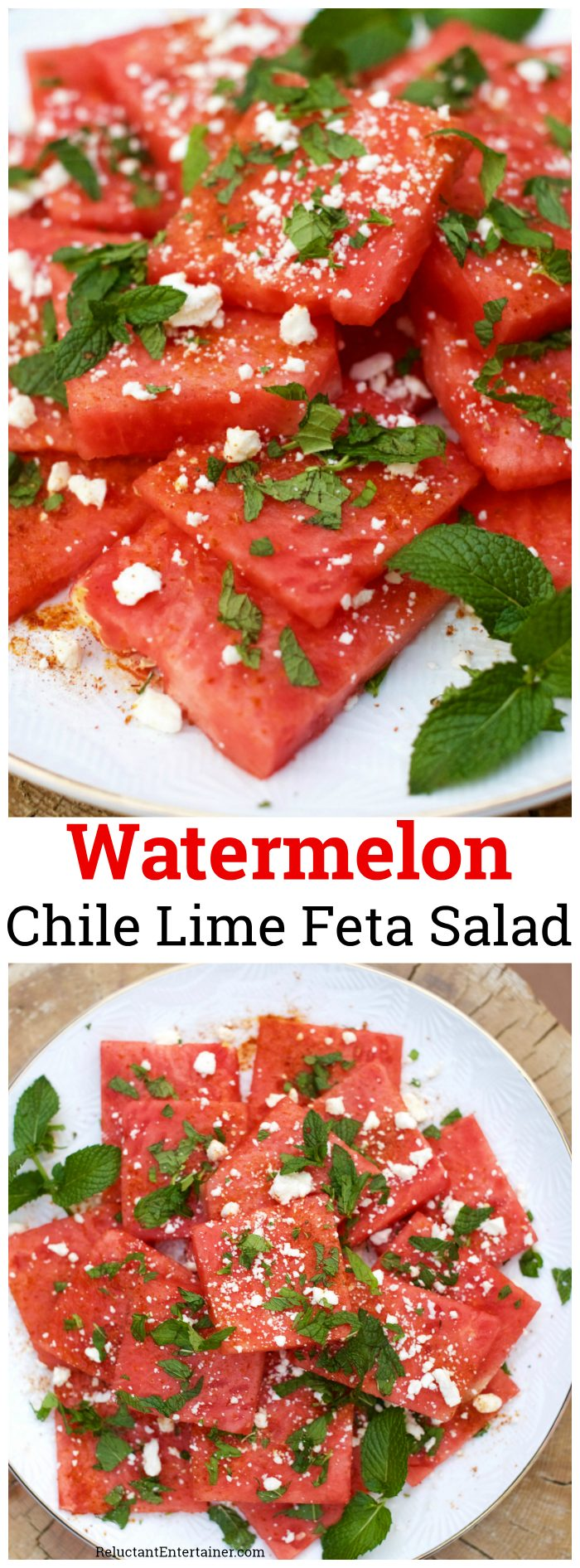 Watermelon Chile Lime Feta Salad
