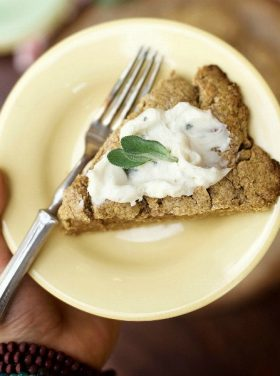 Whole Grain Pumpkin Scone with Sage Cream Cheese Frosting