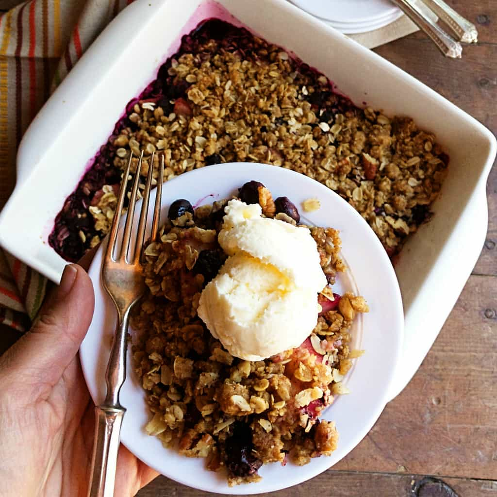 Sugar and Spice Blueberry Crisp photo
