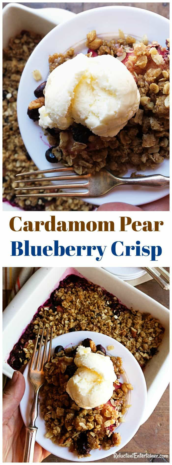Cardamom Pear Blueberry Crisp