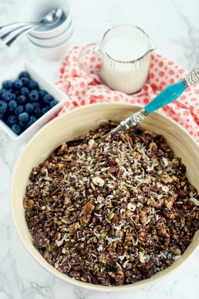 Chocolate Peanut Butter Granola Recipe
