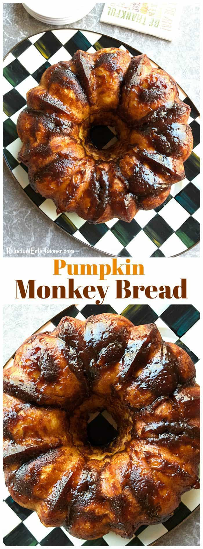 Holiday Pumpkin Monkey Bread