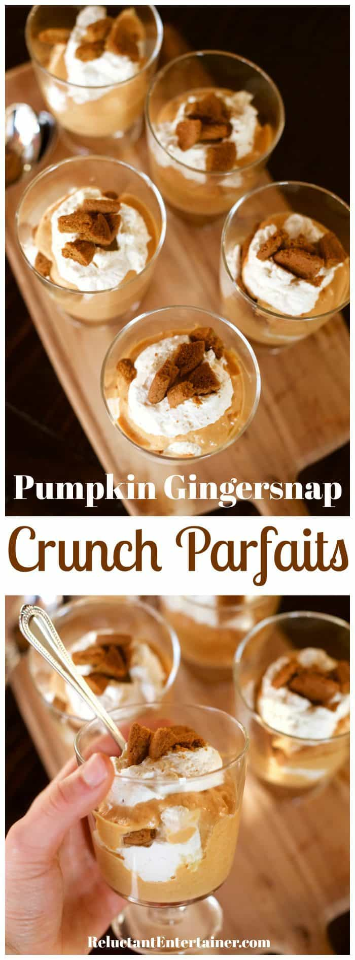 Pumpkin Gingersnap Crunch Parfaits Recipe
