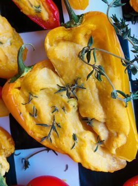 Roasted Pumpkin Mini Sweet Peppers Appetizer