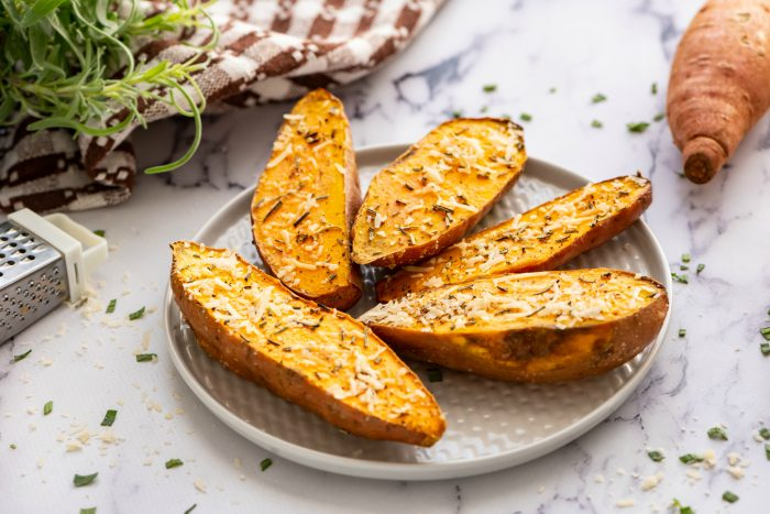 EASY Roasted Sweet Potatoes with Rosemary Recipe
