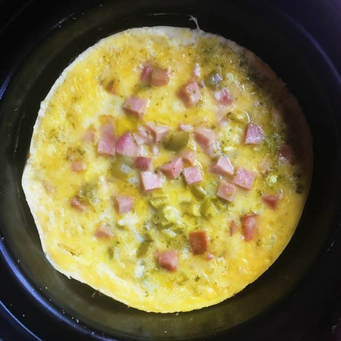 Denver Omelet Salad Recipe: Holiday Slow Cooker Pesto Denver Omelette Breakfast