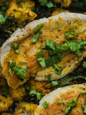 Turmeric Cauliflower Broccoli Chicken