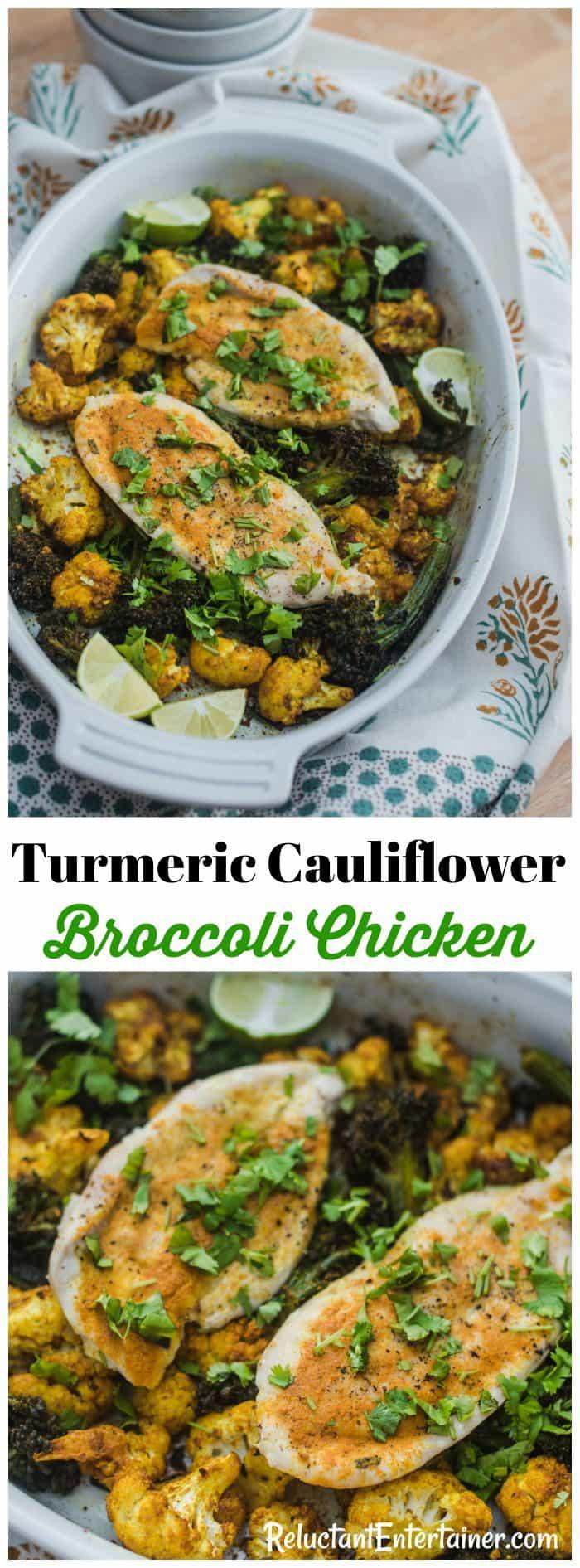 Turmeric Cauliflower Broccoli Chicken