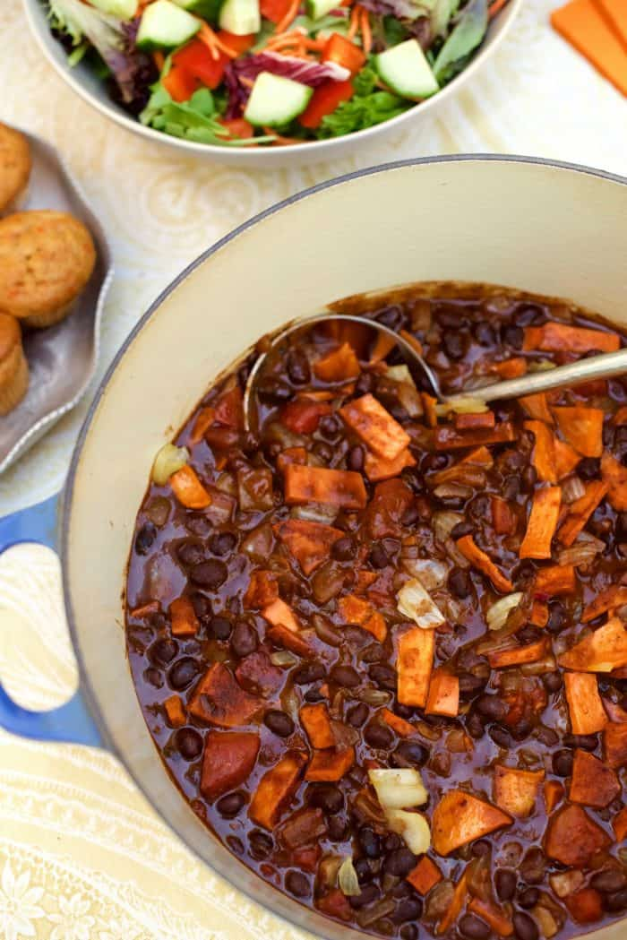 Vegetarian Sweet Potato Black Bean Chili