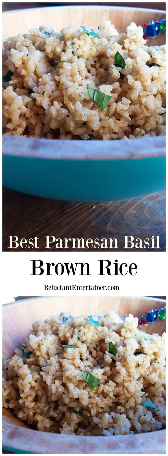 Best Parmesan Basil Brown Rice Recipe