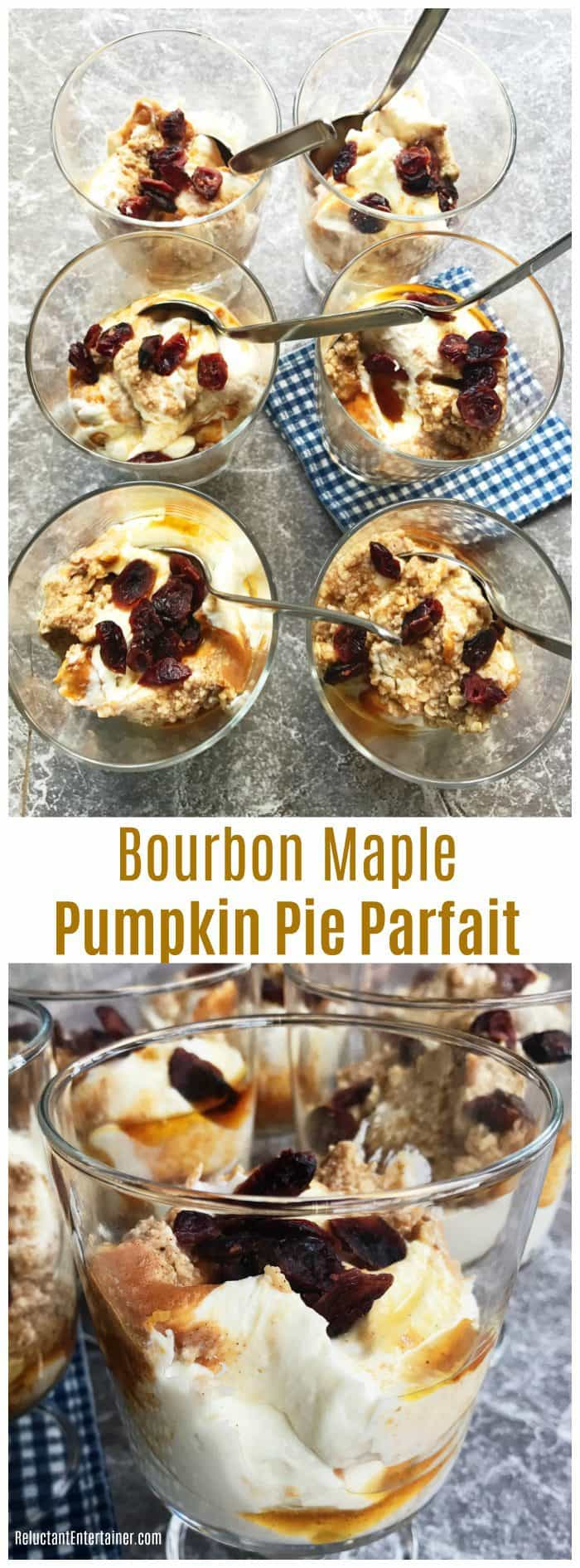 Bourbon Maple Pumpkin Pie Parfait