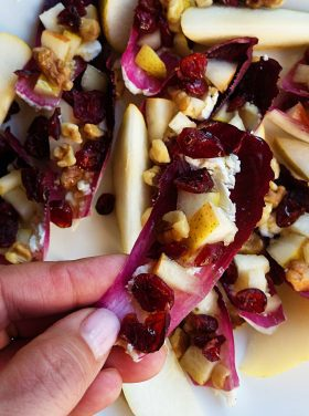 Pear Cranberry Endive Appetizer