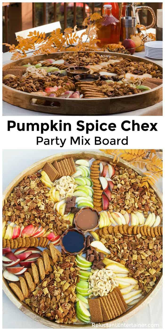Pumpkin Spice Chex Party Mix Board Recipe