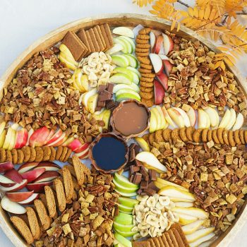Pumpkin Spice Chex Party Mix Board