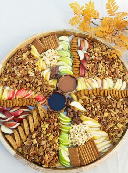 Pumpkin Spice Chex Party Mix Board