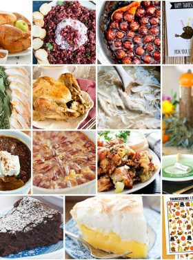 Thanksgiving Meal Plan Recipes