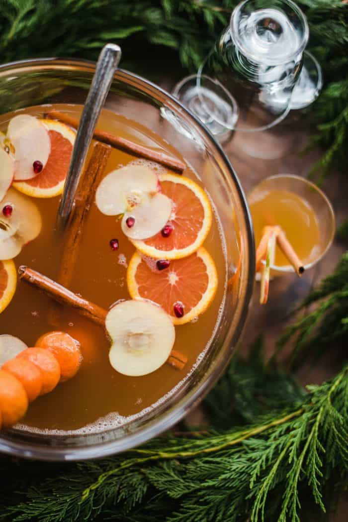 Festive Apple Pineapple Orange Sparkling Punch Recipe