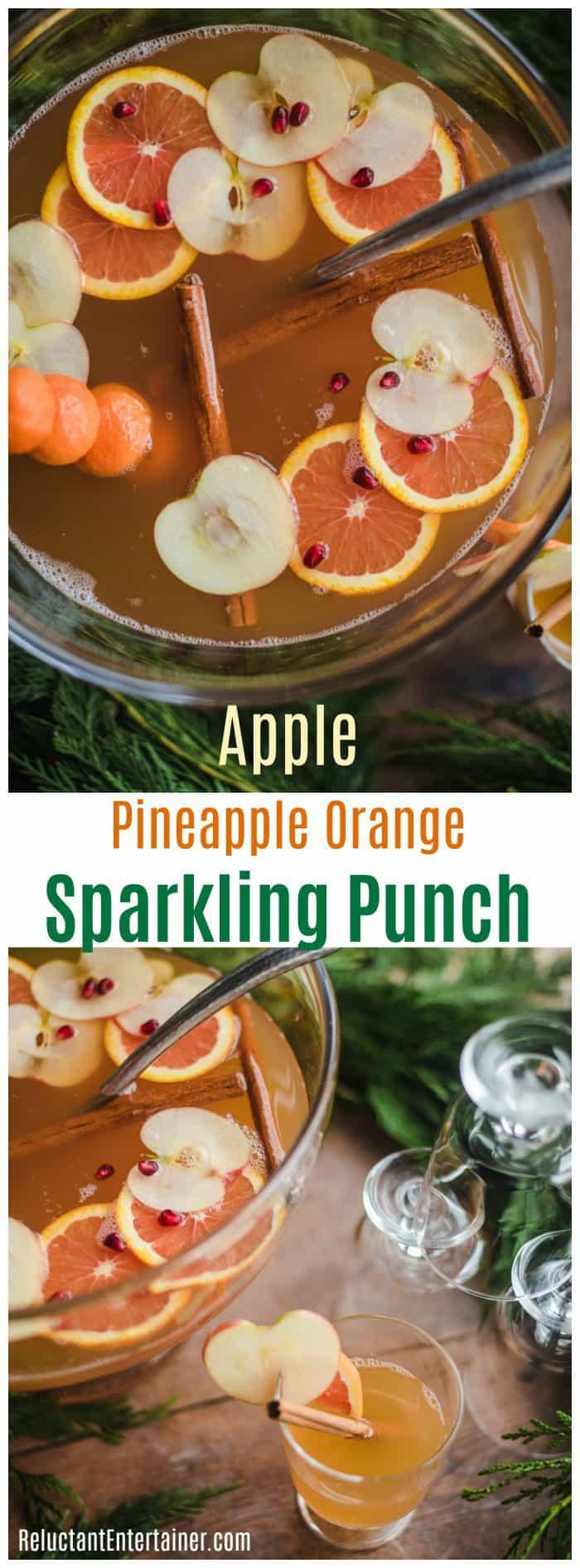 Apple Pineapple Orange Sparkling Punch Recipe