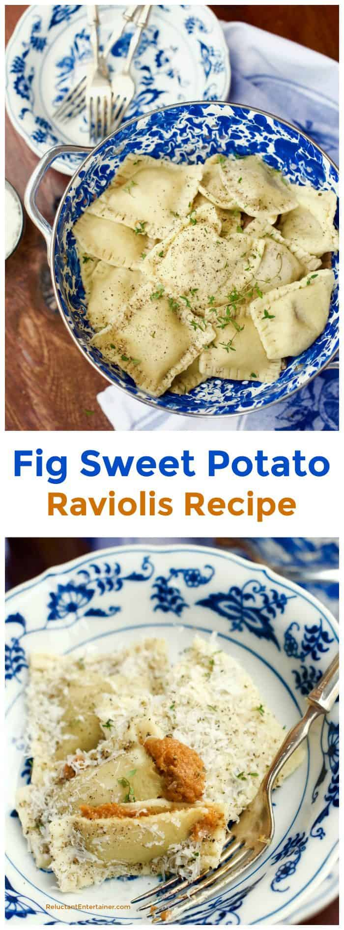 Fig Sweet Potato Raviolis Recipe