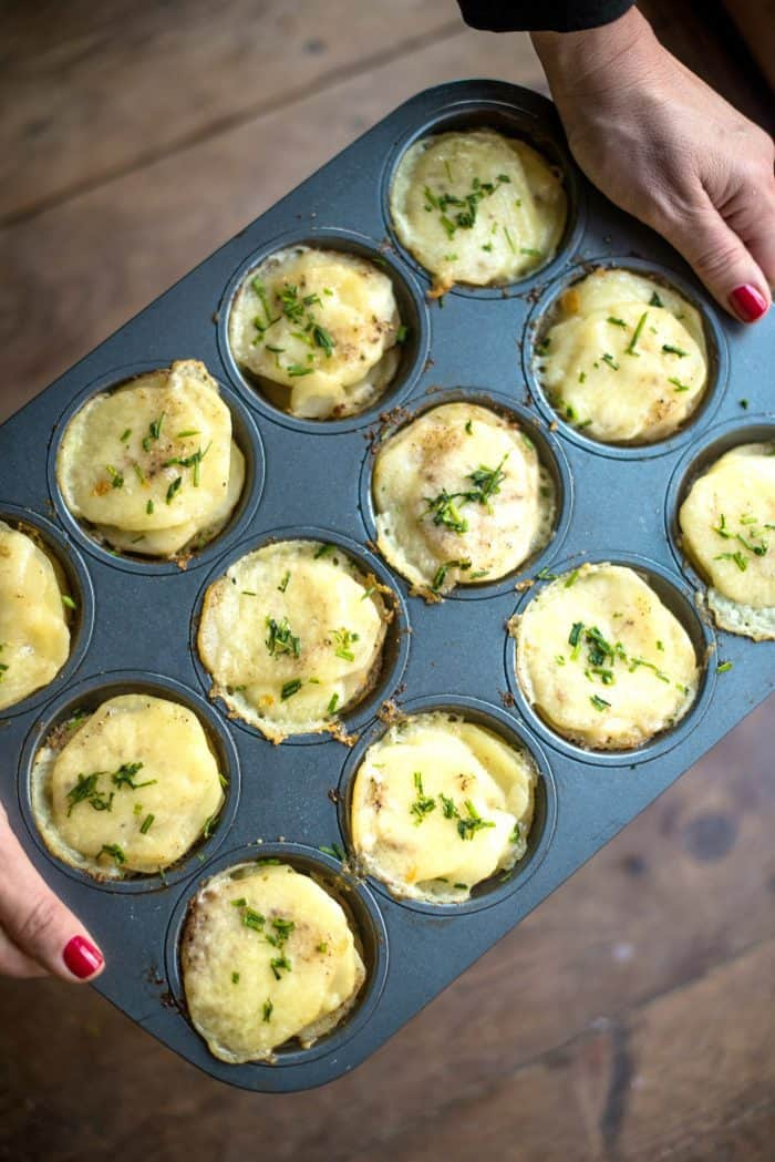 Potato Gratin Muffin Stacks Recipe