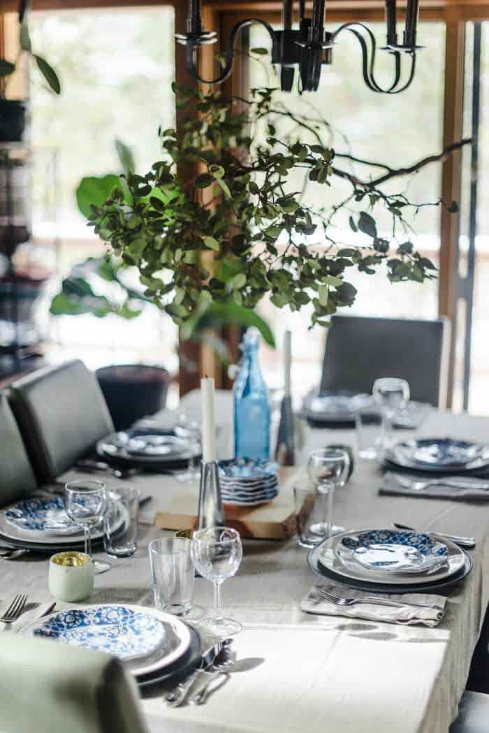 Set the table with manzanita branch