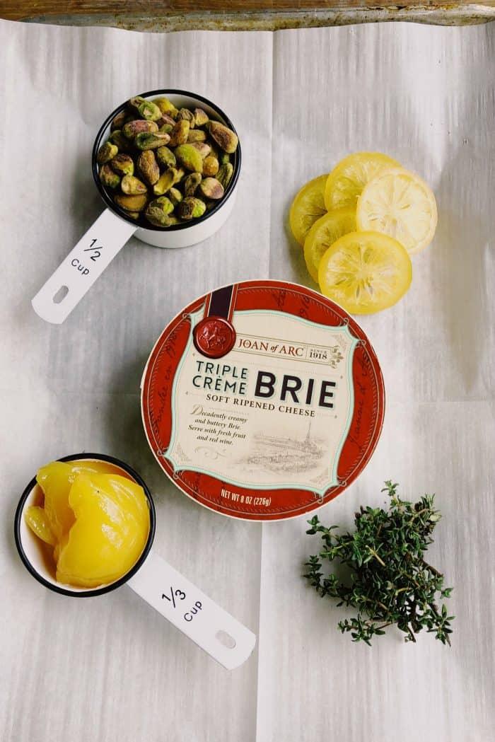Baked Lemon Pistachio Brie Recipe