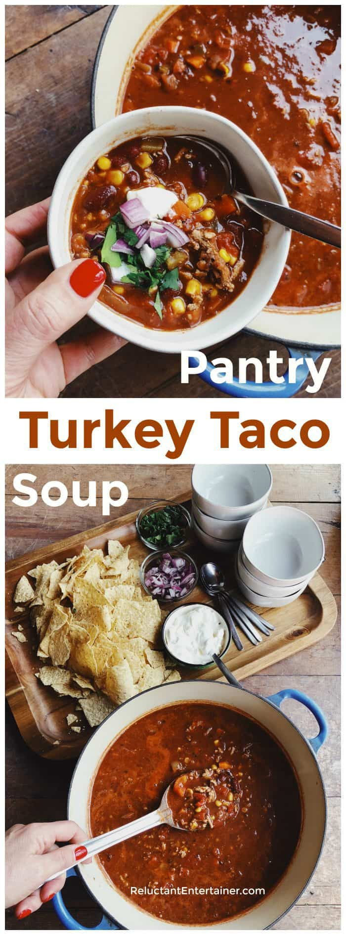 Pantry Turkey Taco Soup Recipe