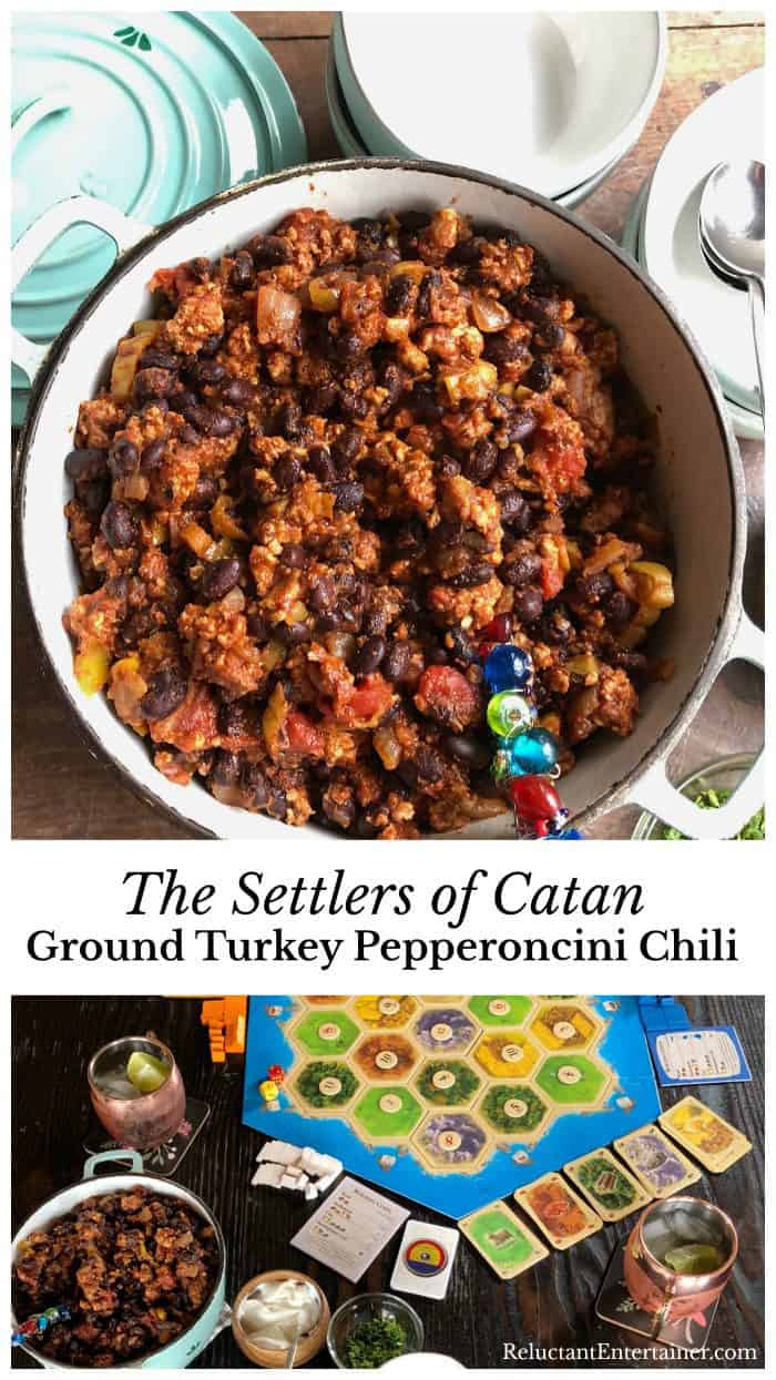 Settlers of Catan Ground Turkey Pepperoncini Chili
