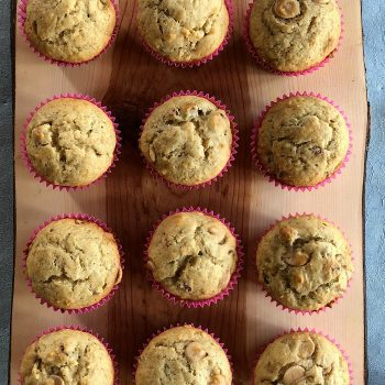 Sour Cream Caramel Banana Muffins Recipe