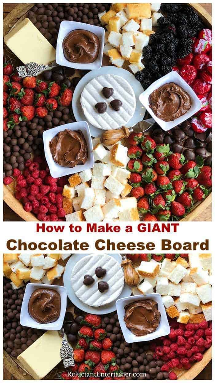 How to Make a GIANT Chocolate Cheese Board