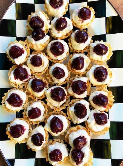 Lemon Cream Cherry Phyllo Tartlets