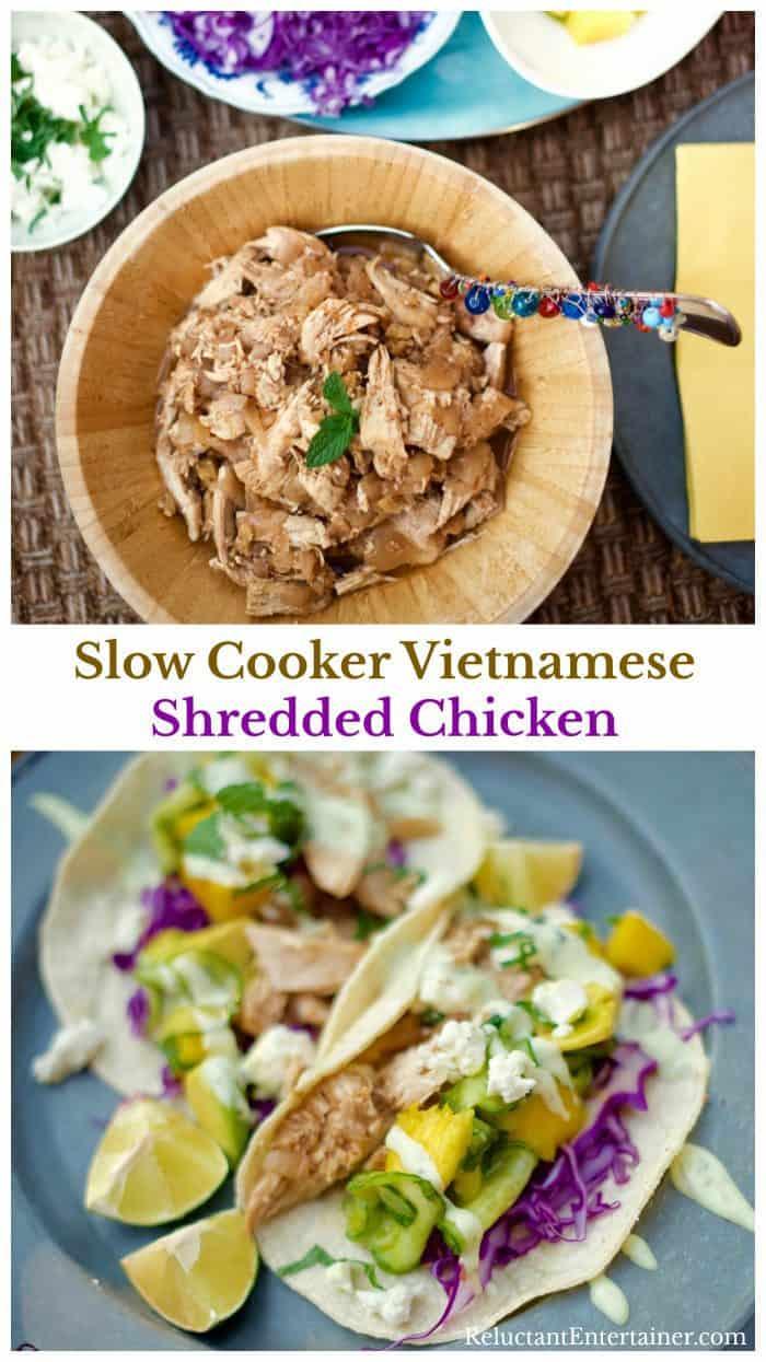 Slow Cooker Vietnamese Shredded Chicken