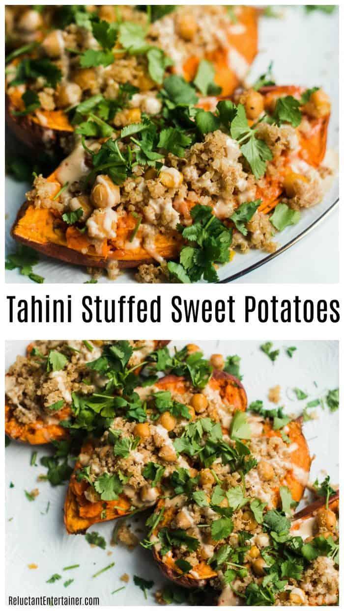 Best Vegetarian Tahini Stuffed Sweet Potatoes