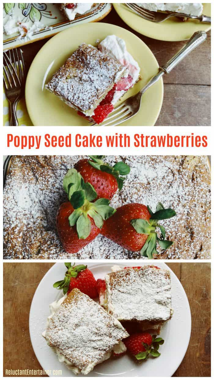 BEST Poppy Seed Cake With Strawberries